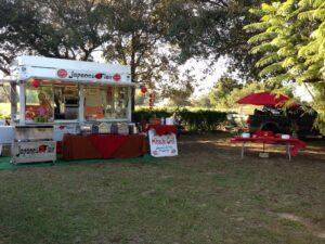 Catering Rozapaluza trailer set up